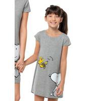 Camisola Infantil Menina Mullet Com Estampa Snoopy E Hering Kids