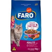 Ração Para Gatos Faro Adultos Sabor Grelhados De Carne E Frango 1Kg