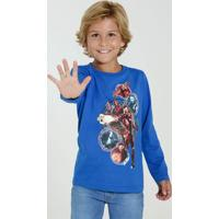 Camiseta Infantil Manga Longa Os Vingadores Marvel