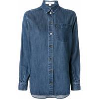 Kseniaschnaider Camisa Jeans Azul