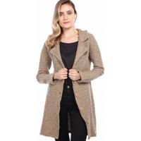 Casaco Ralm Tricot Tweed Bege