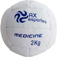 Bola Medicine Ball 2 Kg Ax Esportes Costurada - 530092 - Unissex