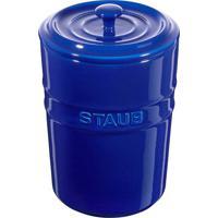 Porta Mantimentos Cerâmica 1 Litro Azul Marinho Staub