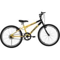 Bicicleta Aro 24 Mtb Sem Marcha Legacy Masculina Amarela Athor Bikes