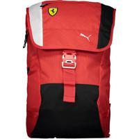 Mochila Puma Scuderia Ferrari Fanwear Vermelha E Preta