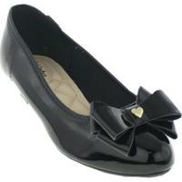 Sapato Infantil Molekinha Verniz Premium Feminina - Feminino-Preto