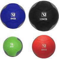 Kit Bolas De Peso 4 6 8 10Kg Liveup Medicine Ball Para Crossfit - Unissex
