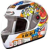 Capacete Mixs Helmets Fokker Casino - Branco