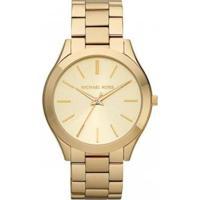 Relógio Michael Kors Slim Runway Omk3179/Z Feminino - Feminino-Dourado