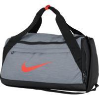 Mala Nike Brasilia Duffel S - 40 Litros - Cinza Escuro/Preto