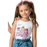 Blusa Branca Barbie® Cotton Light