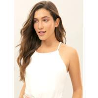 Blusa Com Alças Strappy Branco Off White - Lez A Lez
