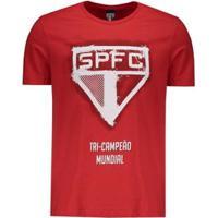 Camiseta São Paulo Logo Print Masculina - Masculino