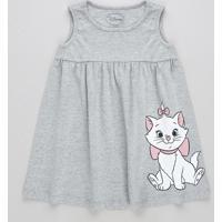 Vestido Infantil Marie Sem Manga Cinza Mescla