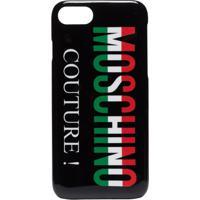 Moschino Black Couture Logo Iphone 8 Case - Preto