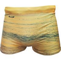 Sunga Boxer Estampada Paisagem Colcci - Masculino-Areia