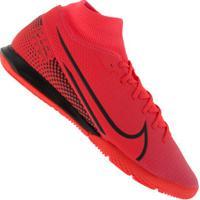 Chuteira Futsal Nike Mercurial Superfly 7 Academy Ic - Adulto - Coral/Preto