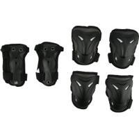 Kit De Proteção Spin Roller Com 2 Joelheiras, 2 Cotoveleiras E 2 Munhequeiras Yx0305 - Adulto - Preto
