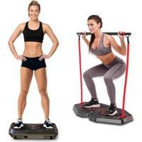 Plataforma Vibratória Genis Energym Pro + Genis Plataforma De Exercícios Transformer Full Body Stati - Unissex