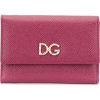 Dolce & Gabbana Carteira Com Logo - Rosa
