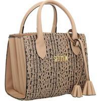 Bolsa Selten Handbag Sanfonada Feminina - Feminino-Bege