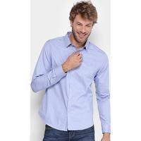 7a59ff6dcf6ec ... Camisa Calvin Klein Slim Fit Quadriculado Mini Masculina - Masculino -Azul