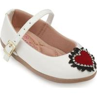 Sapato Infantil Boneca Pequenina Baby Feminino - Feminino-Branco