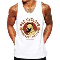 Camiseta Regata Criativa Urbana Fitness Red Cyclone - Masculino-Branco