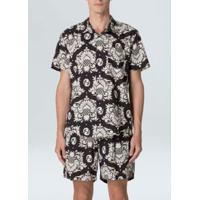 Camisa Arabesco Pine Mc-Preto/Offwhite