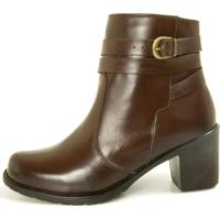 Bota Cano Curto Over Boots Isabela Couro Marrom - Tricae