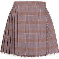 Acne Studios Check Pleated Mini-Skirt - Rosa