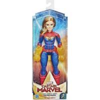 Boneca Articulada 30Cm Disney Capitã Marvel Hasbro - Unissex-Azul