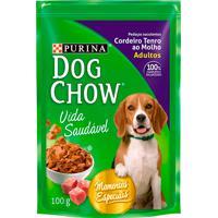 Ração Para Cães Dog Chow Vida Saudável Adultos Sachê Sabor Cordeiro Tenro Ao Molho Com 100G