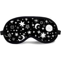 Máscara De Dormir Tritengo Céu Estrelado - Unissex-Preto+Branco