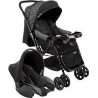 Carrinho De Bebê Com Bebê Conforto Cosco - 0 A 15Kg - Unissex-Preto