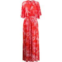 Pinko Vestido Com Estampa Floral - Vermelho