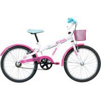 Bicicleta Caloi Barbie 20 - Branco