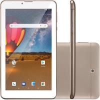 """Tablet Multilaser M7-3G Plus 7"""" 16Gb Wi-Fi Dourado Nb306"""