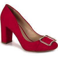 Sapato Salto Feminino Bruna Rocha - Vermelho