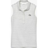 Camisa Polo Lacoste Slim Fit Feminina - Feminino-Branco+Azul