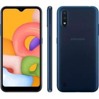 "Smartphone Samsung Galaxy A01 32Gb Octa-Core 2Gb Ram Tela 5,7"" - Unissex"