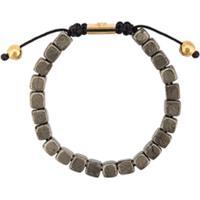Nialaya Jewelry Pulseira De Pirita Com Contas - Preto