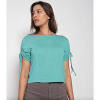 Blusa Lisa Com Franzidos- Verde Água- Arsenalarsenal