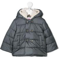 Il Gufo Faux Shearling-Lined Puffer Coat - Cinza