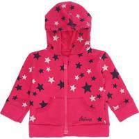 Casaco Infantil Calvin Klein Jeans Estampa Estrelas Rosa Escuro - 6M