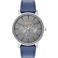 9de161d6aa4 Relógio Hugo Boss Masculino Couro Azul - 1550066