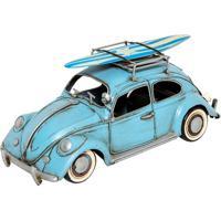 Miniatura Decorativa Fusca Surf Azul 1969