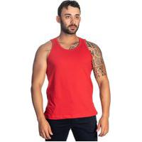 Camiseta Regata De Basquete Cavada Selten Vermelho