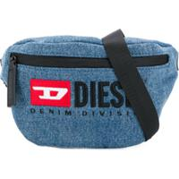 Diesel Kids Bolsa Tiracolo Com Logo - Azul