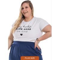 T-Shirt Feminina Be Kind Branco